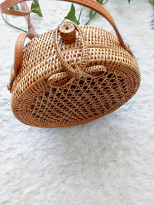 Handwoven Rattan Beach Bag