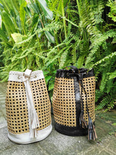 Super unique, fantastic rattan handbag backpack for beach or night out