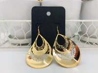Twisted teardrop cut out earrings