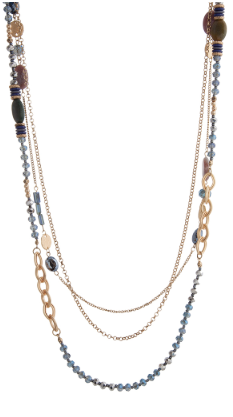 Gold Beaded stone necklace