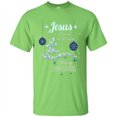 Christmas T-Shirt Jesus Is The Reason For The Season Custom Ultra Tshirt - WackyTee