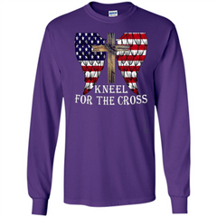 Stand For The Flag Kneel For The Cross T-Shirt LS Ultra Cotton Tshirt - WackyTee