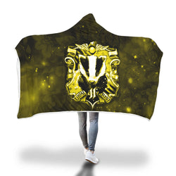 The Hufflepuff Badger (Harry Potter) 3D Hooded Blanket