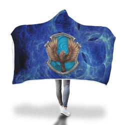 Wise Like A Ravenclaw Harry Potter 3D Hooded Blanket