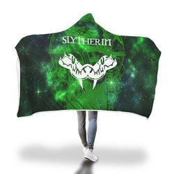 Quidditch Slytherin Harry Potter 3D Hooded Blanket