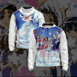 Anohana: The Flower We Saw That Day Unisex Zip Up Hoodie