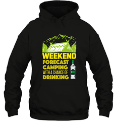 Weekend Forecast Camping With A Chance Of Drinking ShirtUnisex Heavyweight Pullover Hoodie