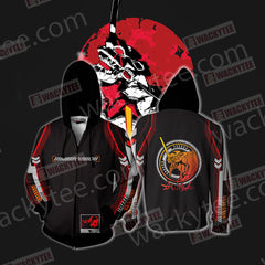 Shin Seiki Evangelion Katsuragi Misato New Zip Up Hoodie Jacket Fullprinted Zip Up Hoodie - WackyTee