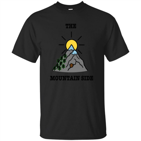 The Mountain Side T-shirt Black / S Custom Ultra Tshirt - WackyTee