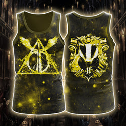 The Hufflepuff Badger Harry Potter 3D Tank Top