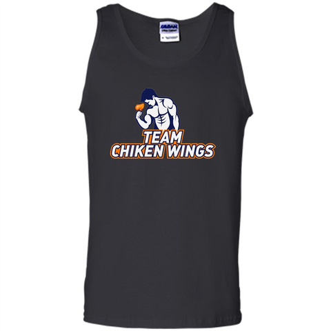 Team Chicken Wings T-shirt Funny Workout T-Shirt Black / S Tank Top - WackyTee