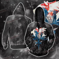 Final Fantasy VIII Unisex Zip Up Hoodie Jacket Fullprinted Zip Up Hoodie - WackyTee