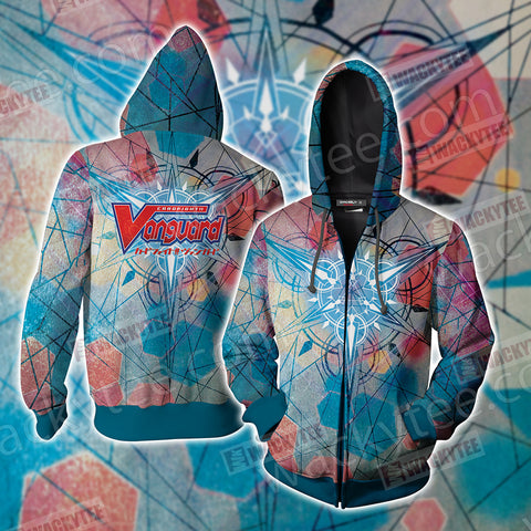Cardfight!! Vanguard - Bushiroad Zip Up Hoodie Jacket US/EU XXS (ASIAN S) Fullprinted Zip Up Hoodie - WackyTee