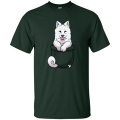 Pocket Samoyed T-shirt Cute Samoyed tshirt Custom Ultra Tshirt - WackyTee