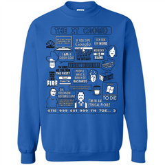 Movies T-shirt The IT Crowd Quotes I'm In A Ethical Pickle Printed Crewneck Pullover Sweatshirt 8 oz - WackyTee