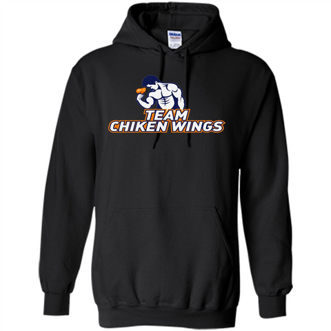 Team Chicken Wings T-shirt Funny Workout T-Shirt Black / S Pullover Hoodie 8 oz - WackyTee