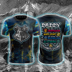 Daddy - You Are My Favorite Wizard Harry Potter Unisex 3D T-shirt