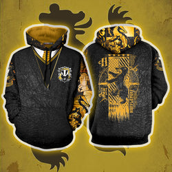 The Hufflepuff Badger Harry Potter 3D Hoodie