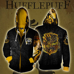 Hufflepuff House Harry Potter Zip Up Hoodie