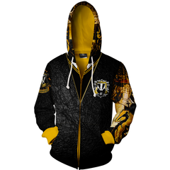 Hufflepuff (Harry Potter) 3D Zip Up Hoodie Fullprinted Zip Up Hoodie - WackyTee