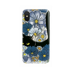 Black Cat And Flowers New Phone Case