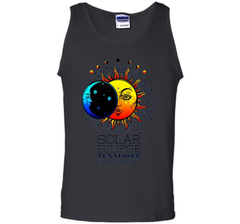 Tennessee Total Solar Eclipse Tennessee Ancient Tshirt cool shirt Black / S Tank Top - WackyTee