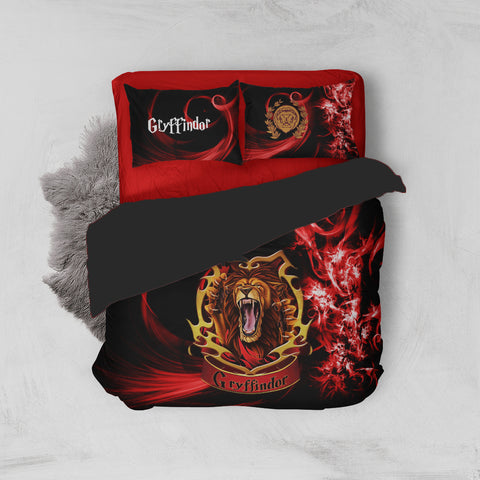 Brave Like A Gryffindor Harry Potter Bed Set Twin (3PCS) Fullprinted Bed Set - WackyTee