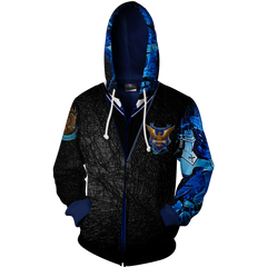 Ravenclaw Harry Potter Zip Up Hoodie Fullprinted Zip Up Hoodie - WackyTee
