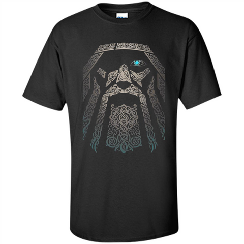 Odin-Vikings Valhalla T-shirt Black / S Custom Ultra Cotton - WackyTee