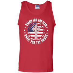 Stand For The Flag Knell For The Cross T-shirt Tank Top - WackyTee