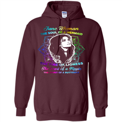 June Woman T-shirt The Heart Of A Hippie Pullover Hoodie 8 oz - WackyTee