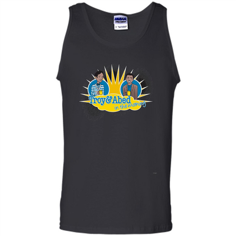 Troy And Abed In The Morning T-shirt Black / S Tank Top - WackyTee