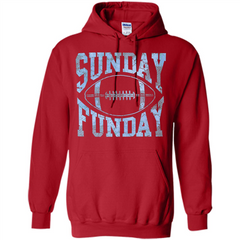 Football T-shirt Sunday Funday Football SeasonT-Shirt Pullover Hoodie 8 oz - WackyTee