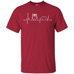 Heartbeat Owl T-shirt Love Owl T-shirt Custom Ultra Tshirt - WackyTee