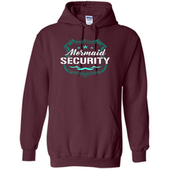 Mermaid Security T-shirt Pullover Hoodie 8 oz - WackyTee