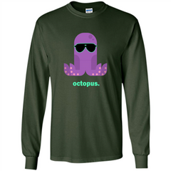 Sunglasses Hipster Squid T-shirt Sea Animals Octopus T-Shirt LS Ultra Cotton Tshirt - WackyTee