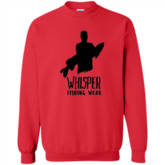 Fishing Lover T-shirt Whisper Fishing Wear Printed Crewneck Pullover Sweatshirt 8 oz - WackyTee