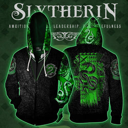 Slytherin House (Harry Potter) Zip Up Hoodie