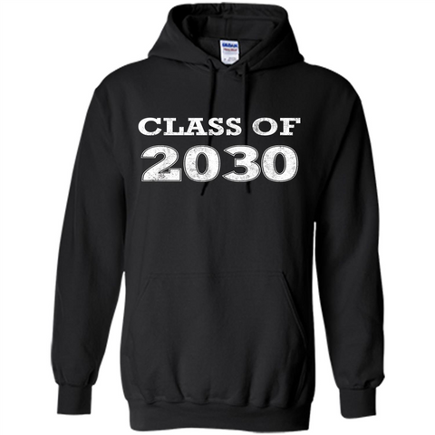 Class of 2030 T-Shirt Black / S Pullover Hoodie 8 oz - WackyTee