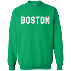 Boston T-Shirt Love Boston Printed Crewneck Pullover Sweatshirt 8 oz - WackyTee