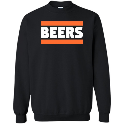 Funny Football T-shirt Chicago BEERS Blue and Orange Black / S Printed Crewneck Pullover Sweatshirt 8 oz - WackyTee