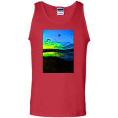 Yellow Dance Of The Tropical Blue Sea And Green Sky T-shirt Tank Top - WackyTee