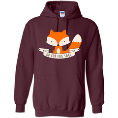 Fox Lover T-shirt Oh For Fox Sake Pullover Hoodie 8 oz - WackyTee
