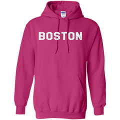 Boston T-Shirt Love Boston Pullover Hoodie 8 oz - WackyTee