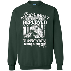 Military T-shirt Red Friday Until They Com Home Printed Crewneck Pullover Sweatshirt 8 oz - WackyTee