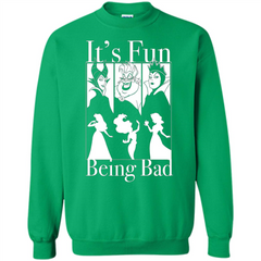 Princess It's Fun Being Bad T-shirt Printed Crewneck Pullover Sweatshirt 8 oz - WackyTee