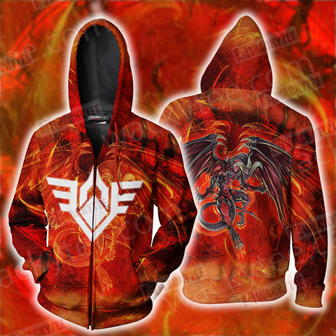 Yu-Gi-Oh! Red Dragon Archfiend The Mark Of The Wings Zip Up Hoodie