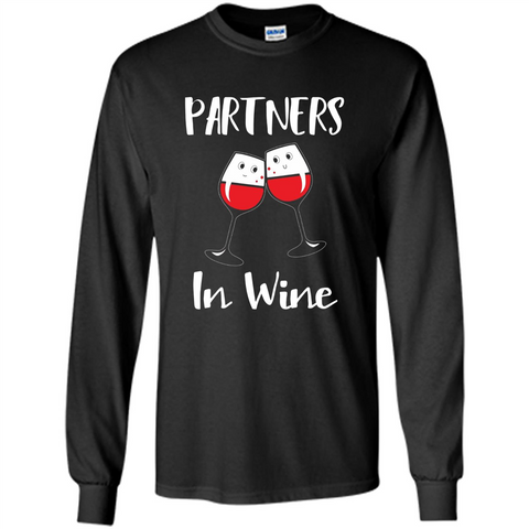 Wine Party T-shirt Partners In Wine T-shirt Black / S LS Ultra Cotton Tshirt - WackyTee