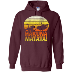 Cartoon T-shirt The Lion King Hakuna Matata Pullover Hoodie 8 oz - WackyTee