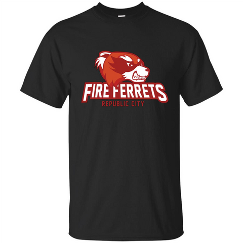Republic City Fire Ferrets T-shirt Black / S Custom Ultra Tshirt - WackyTee